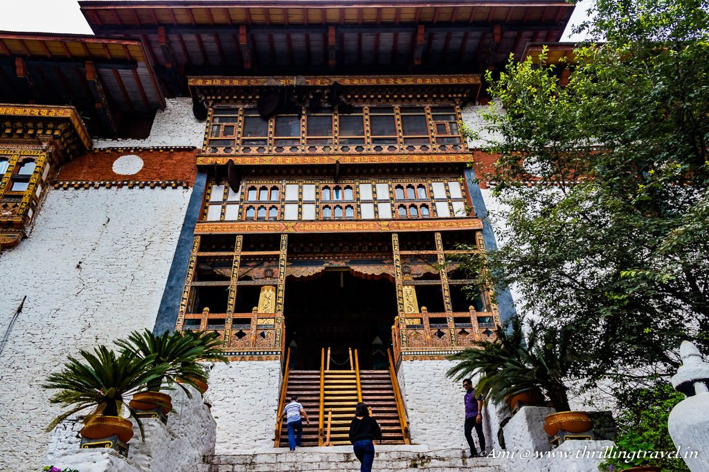 Main entrance of Punakha Dzong