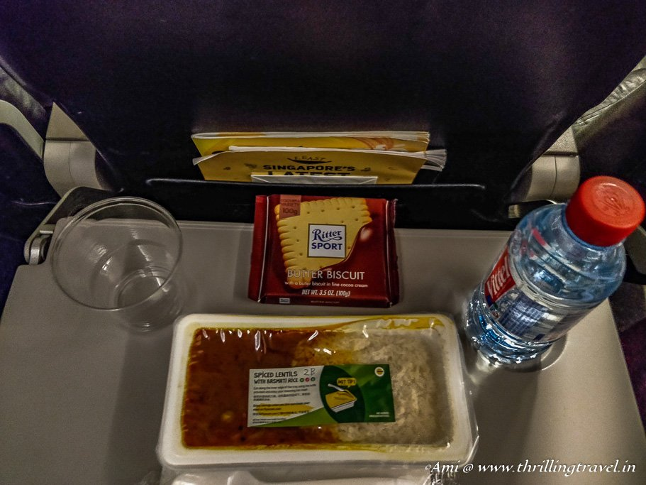 Vegetarian meal on board Scoot Airlines