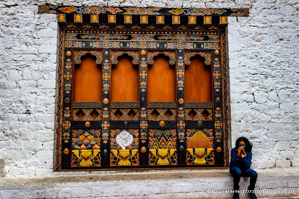 One of the Windows of the Temple, Punakha Dzong