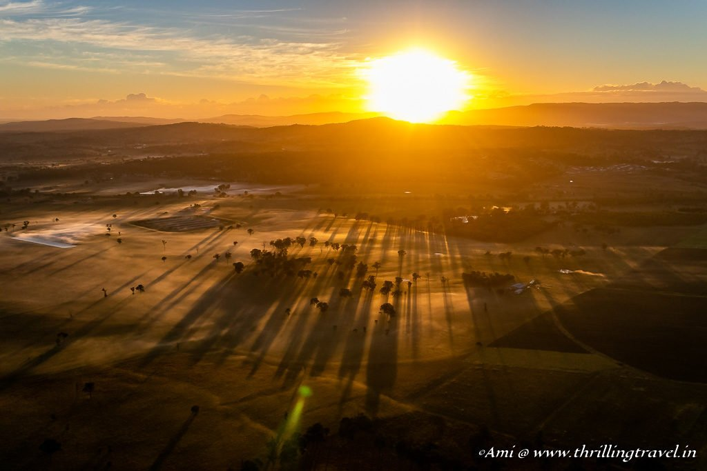 Sunrise over the Queensland Hinterland_Hot Air Balloon