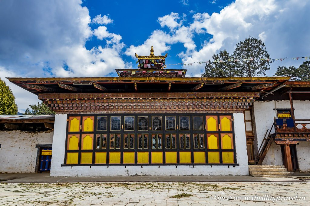 One of the smaller temples around the main temple of Gangteng Monastery, Bhutan