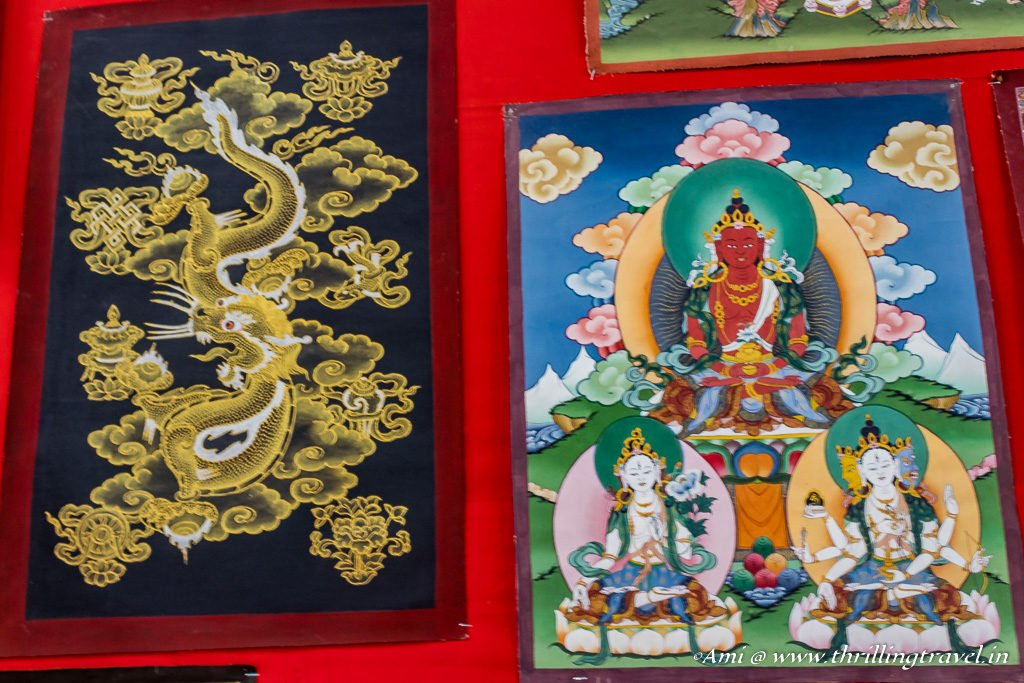 Bhutan Travel Guide to Shopping - Thangka Art in Bhutan