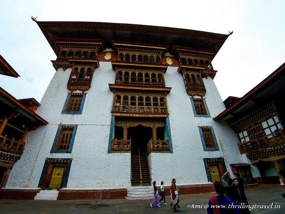 The Utse of Punakha Dzong from the 2nd Dorchey