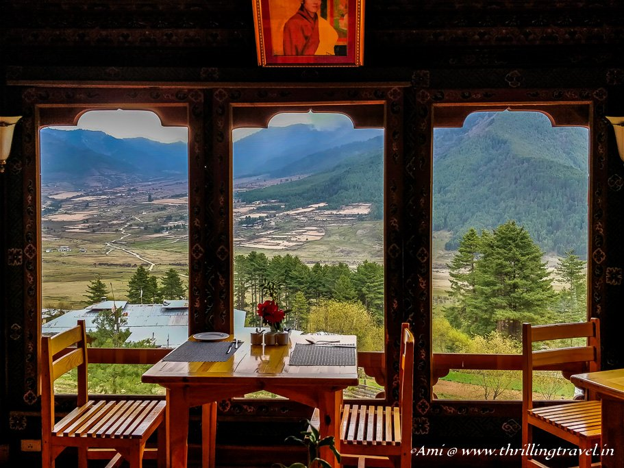 View of Phobjikha Valley from our lunch table