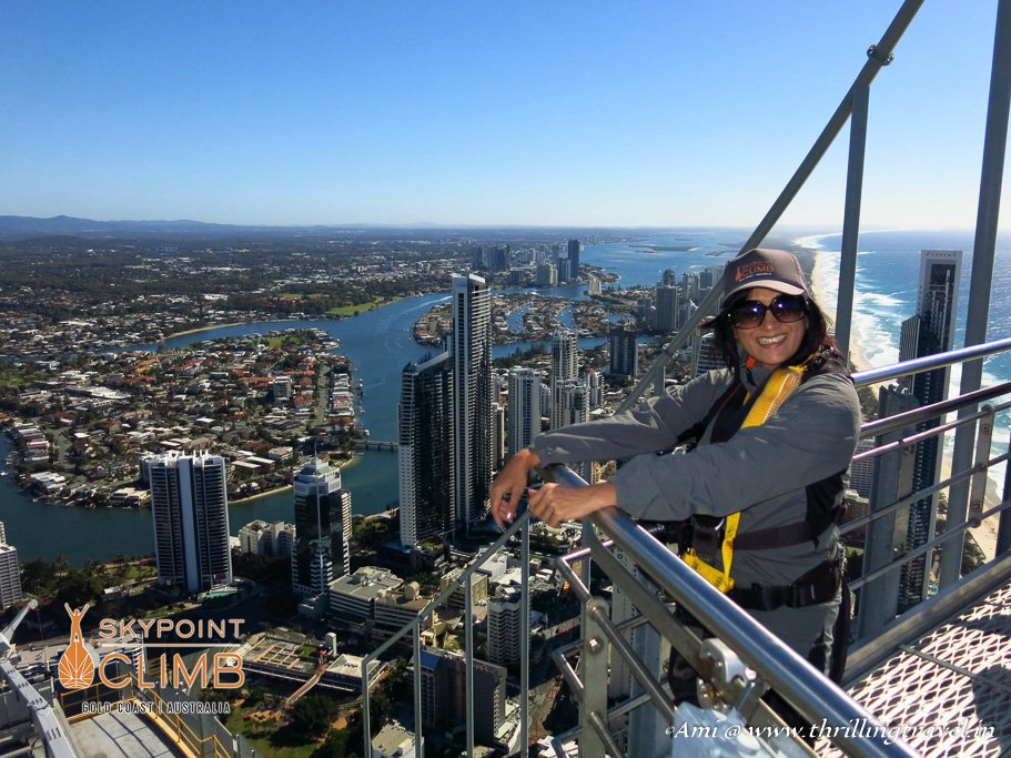 Atop the SkyPoint Climb in Gold Coast