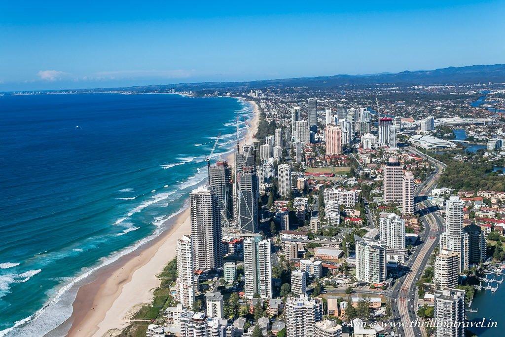 The Southern Coastline of Gold Coast stretching towards New South Wales