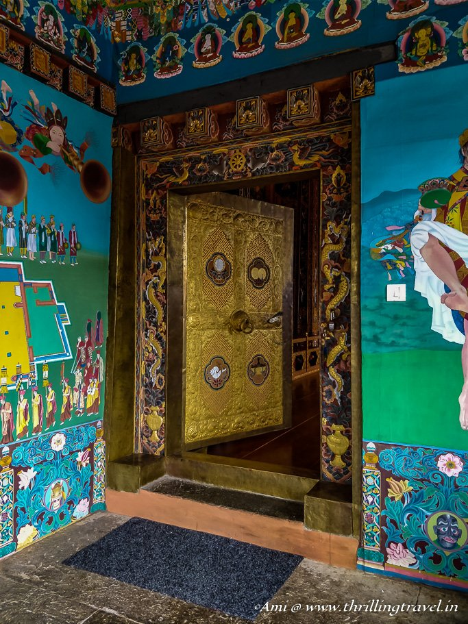 Door of the Druk Wangyal temple, Dochula Pass