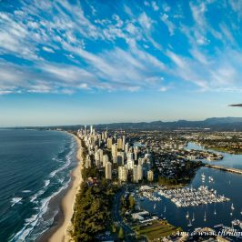 Gold Coast City from the Sea Plane enroute to Lady Elliot Island