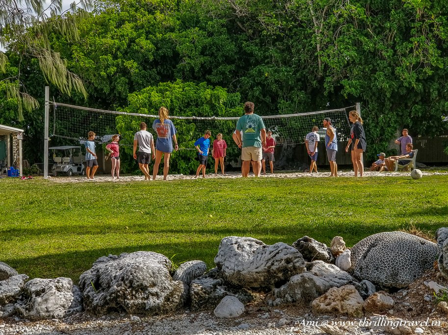 Guests enjoying Beach Ball at Lady Elliot Island