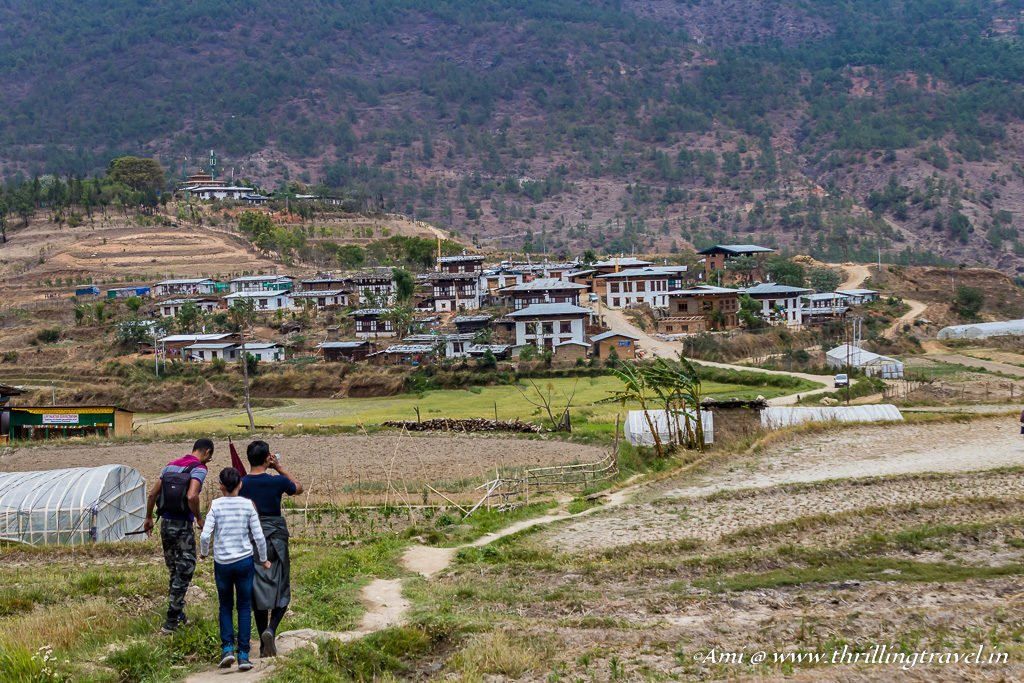 Hike through the fields to the Fertility Temple, Bhutan