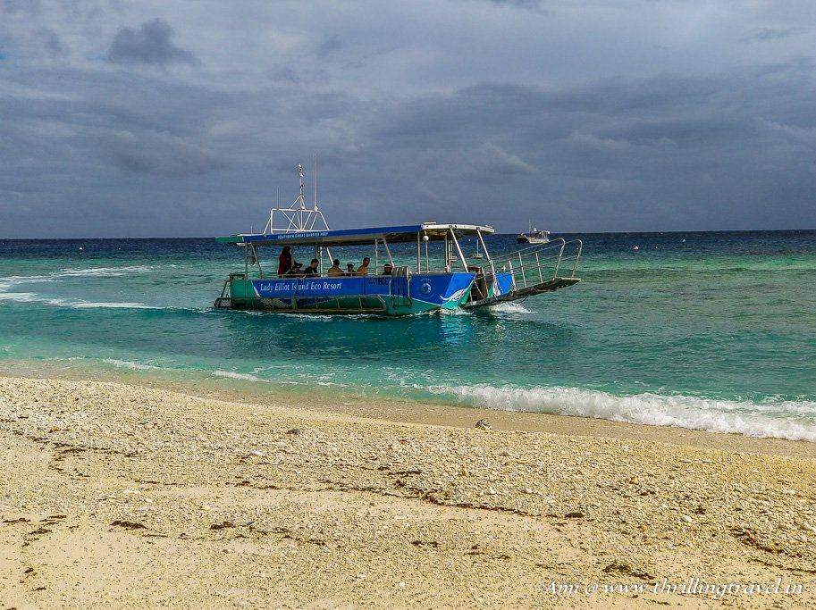 The Glass bottom boat to Lady Elliot Island