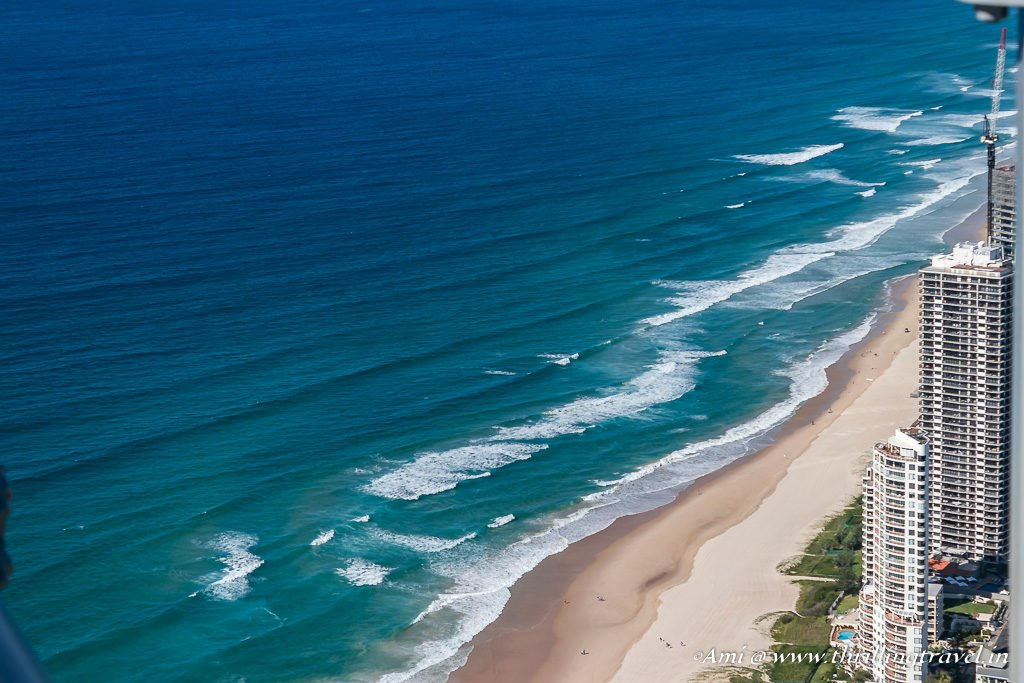 The blue waters of Gold Coast