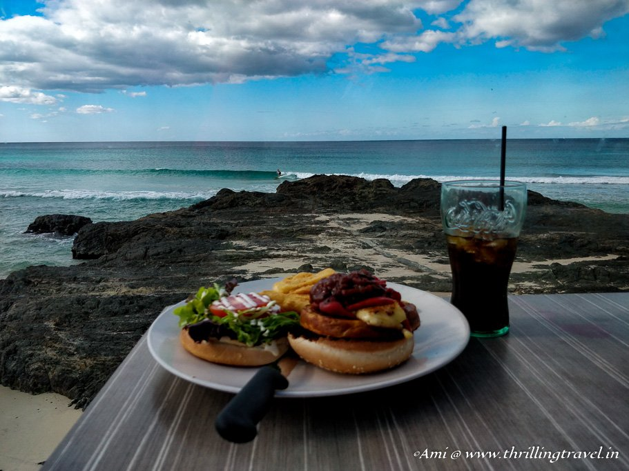 Lunch with a view at Surfer's Club at Currumbin Beach - One of the Beaches in Gold Coast