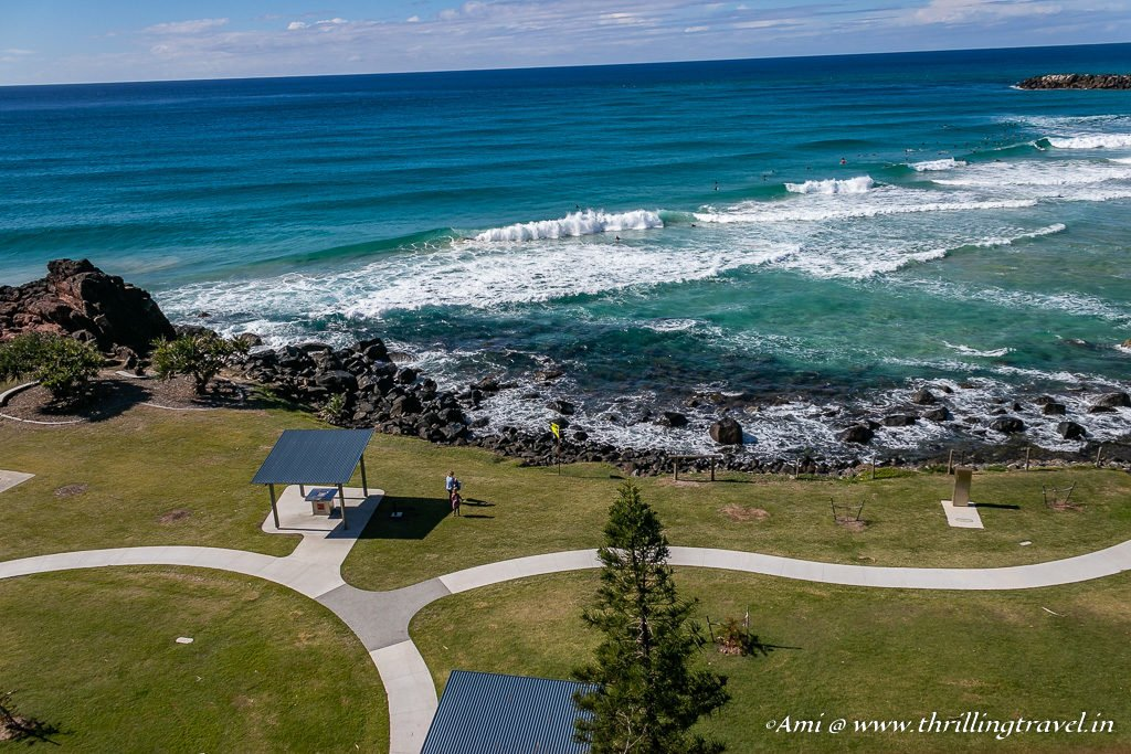 Point Danger at Snapper Rocks, Coolangatta Beach, Gold Coast