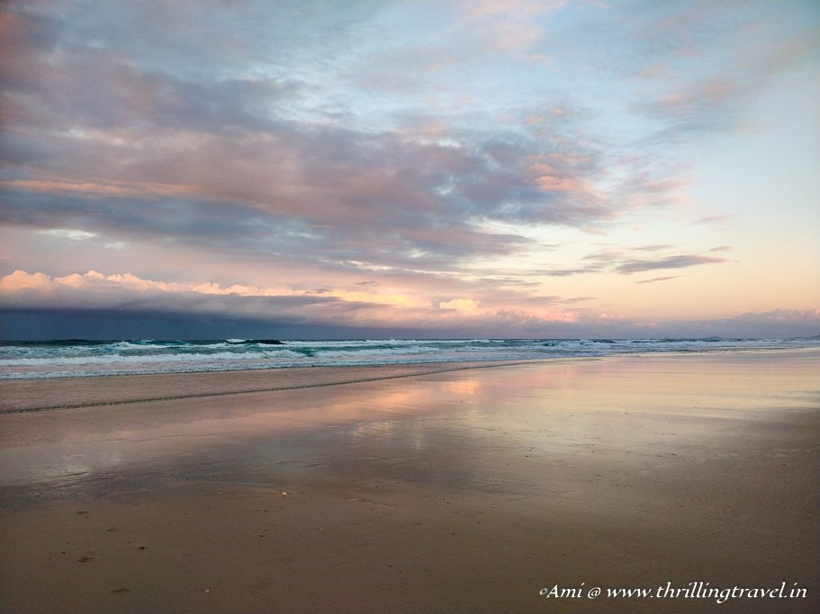 The endless Surfer's Paradise beach - One of the Beaches of Gold Coast