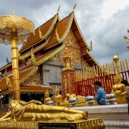 One of the temples in the main square of Doi Suthep Temple