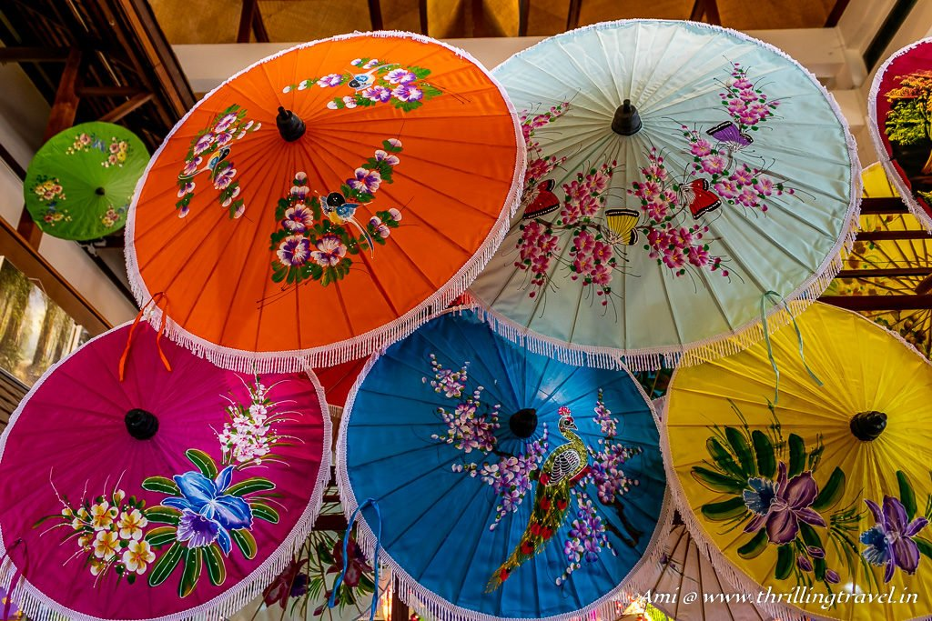 Crafty Parasols At The Bo Sang Umbrella Center Chiang Mai