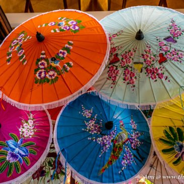 Crafty Parasols at the Bo Sang Umbrella Center, Chiang Mai Handicraft Village