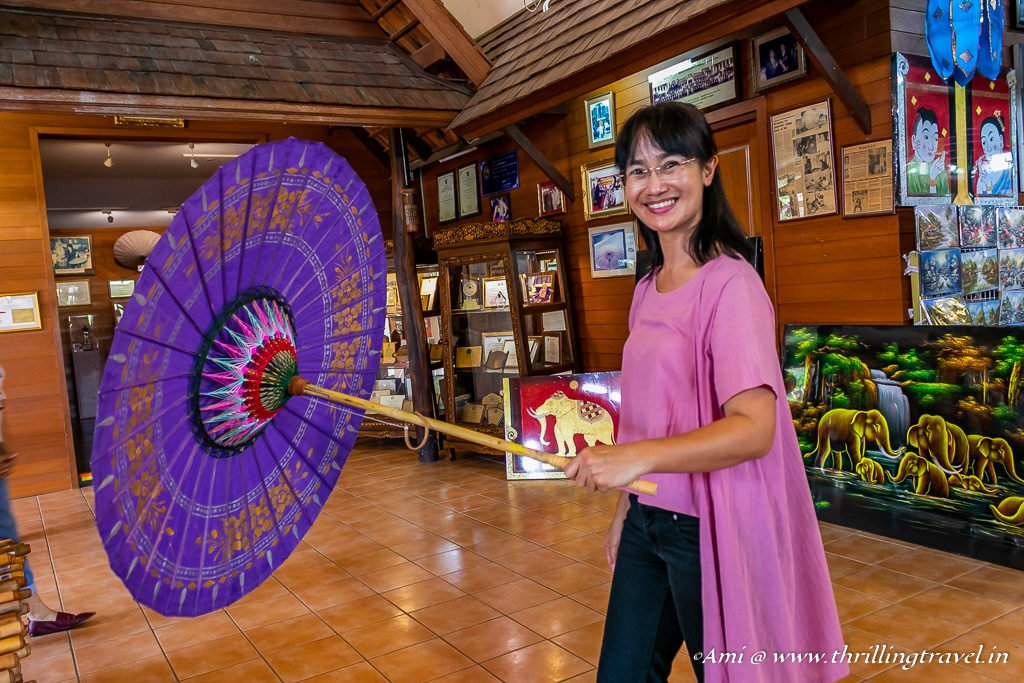 The Bo Sang Umbrella at the Chiang Mai Handicraft Center