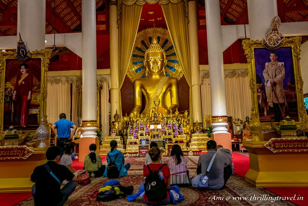 Buddha in Wiharn Luang at Wat Phra Singh
