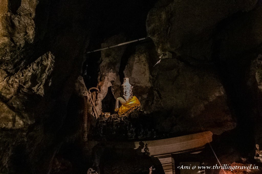 Idol of the King in the Cavern 3 of Khao Luang Temple