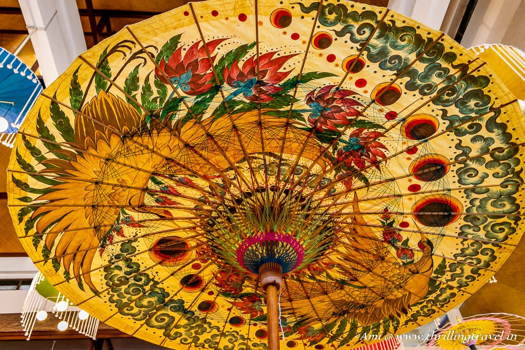 Close up of one of the Bo Sang Umbrellas
