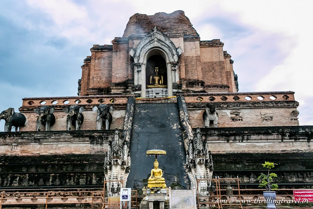 Eastern Side of the Pagoda of Wat Chedi Luang