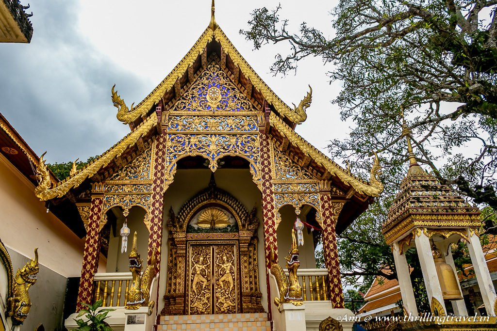 Close up of the doors and roofs of Doi Suthep temple