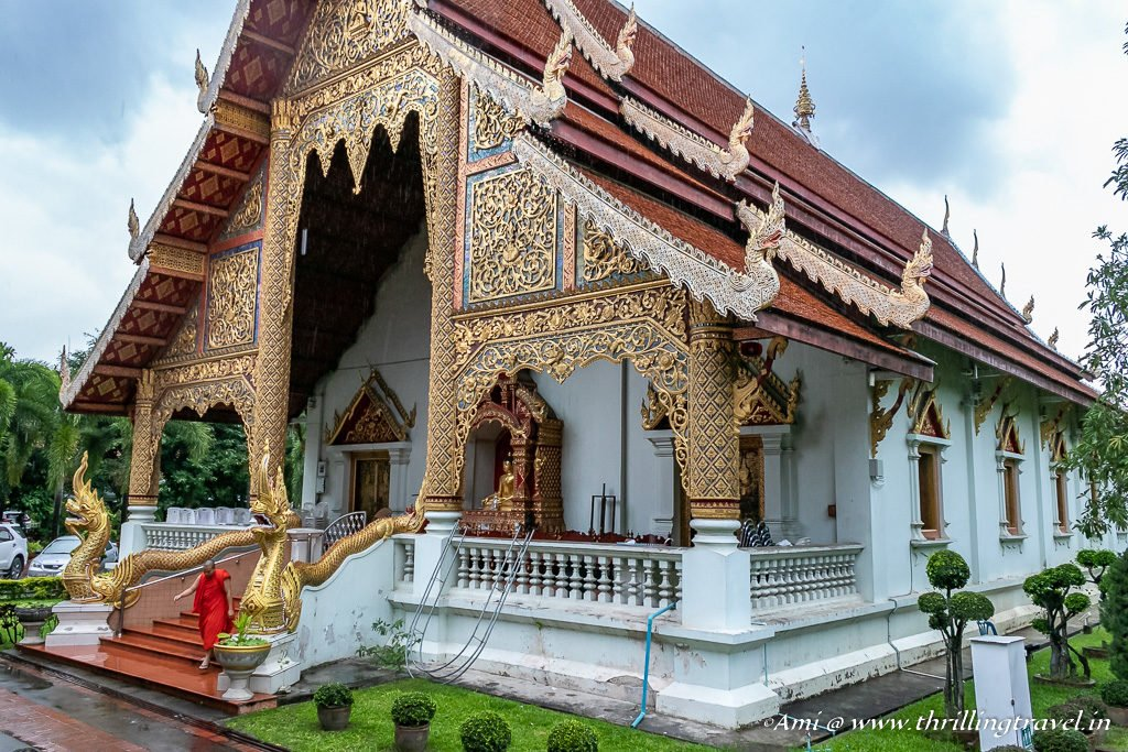Entrance for monks at Wiharn Luang. Chiang Mai, Thailand