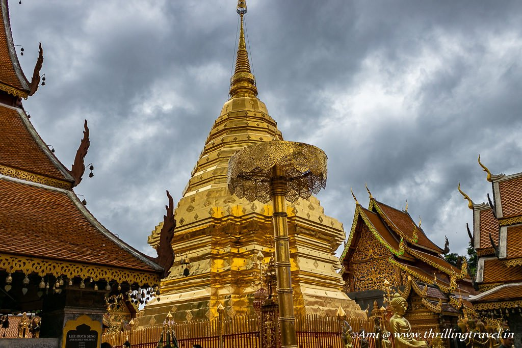 First Glimpse of the Wat Phra That Doi Suthep