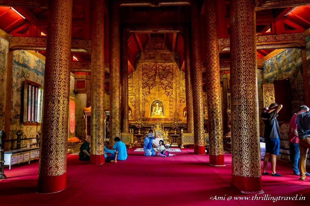 Inside Wiharn Lai Kham of Wat Phra Singh