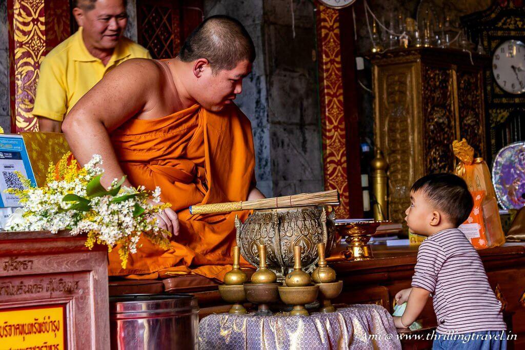 Monk at Wat Phra That Doi Suthep Temple