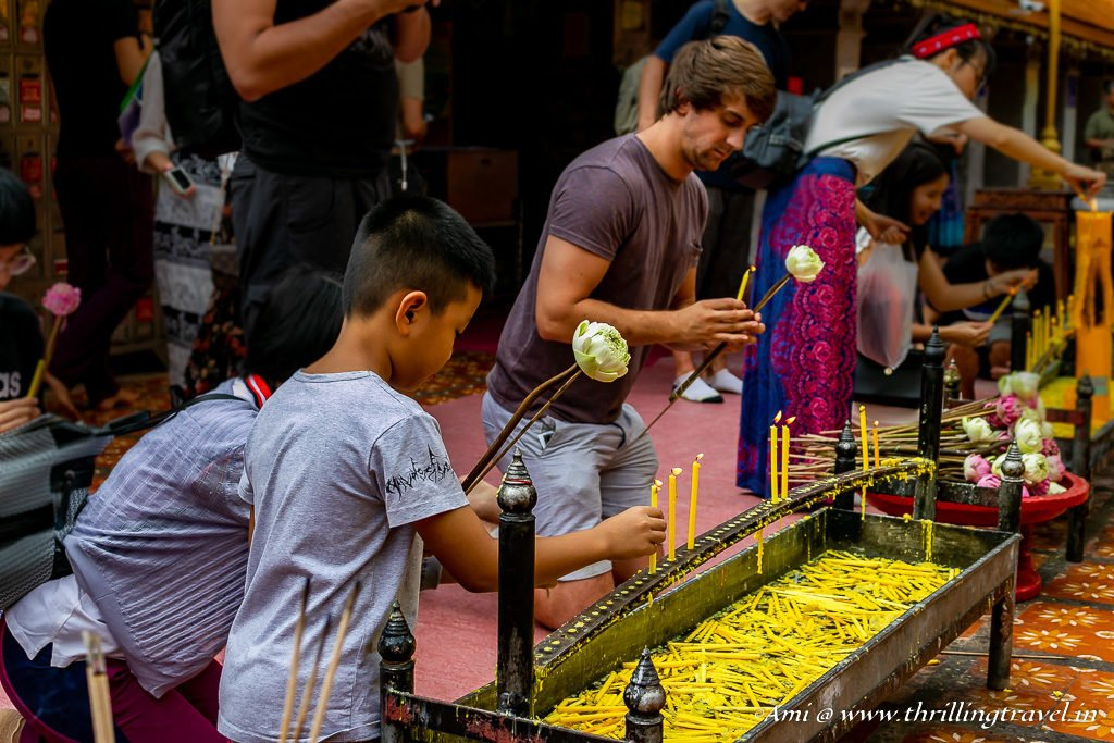Offering at Wat Phra That Doi Suthep Temple