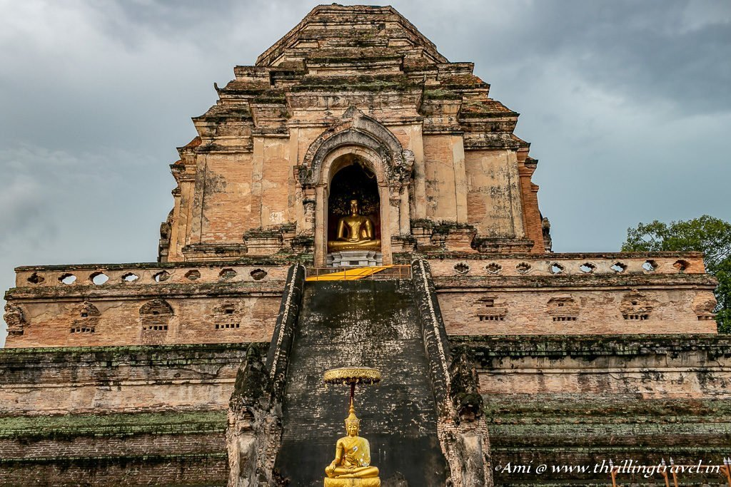 Northern face of the Pagoda at Wat Chedi Luang, Chiang Mai