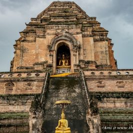 Northern face of the Pagoda at Wat Chedi Luang, Chiang Mai