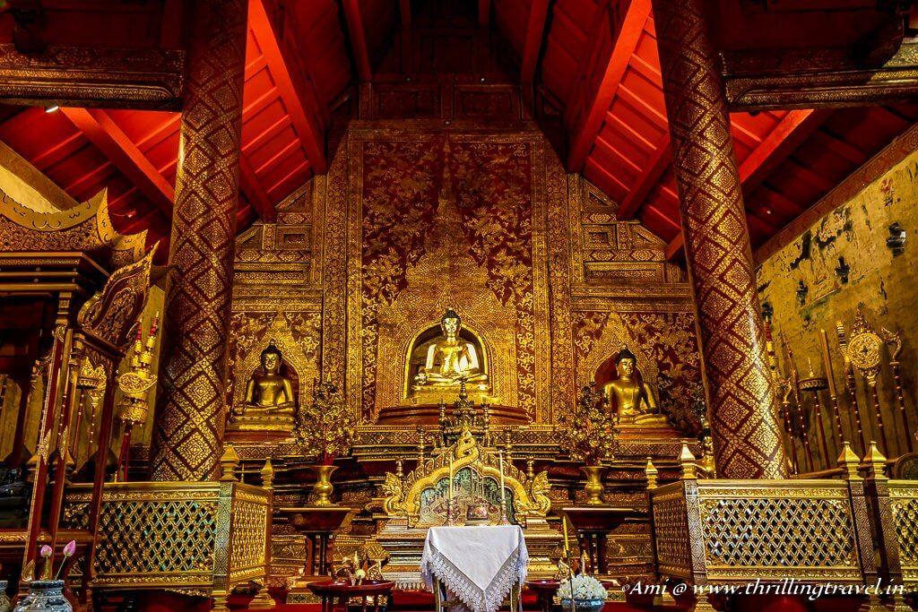 Phra Singh Buddha Statue of Chiang Mai,Thailand