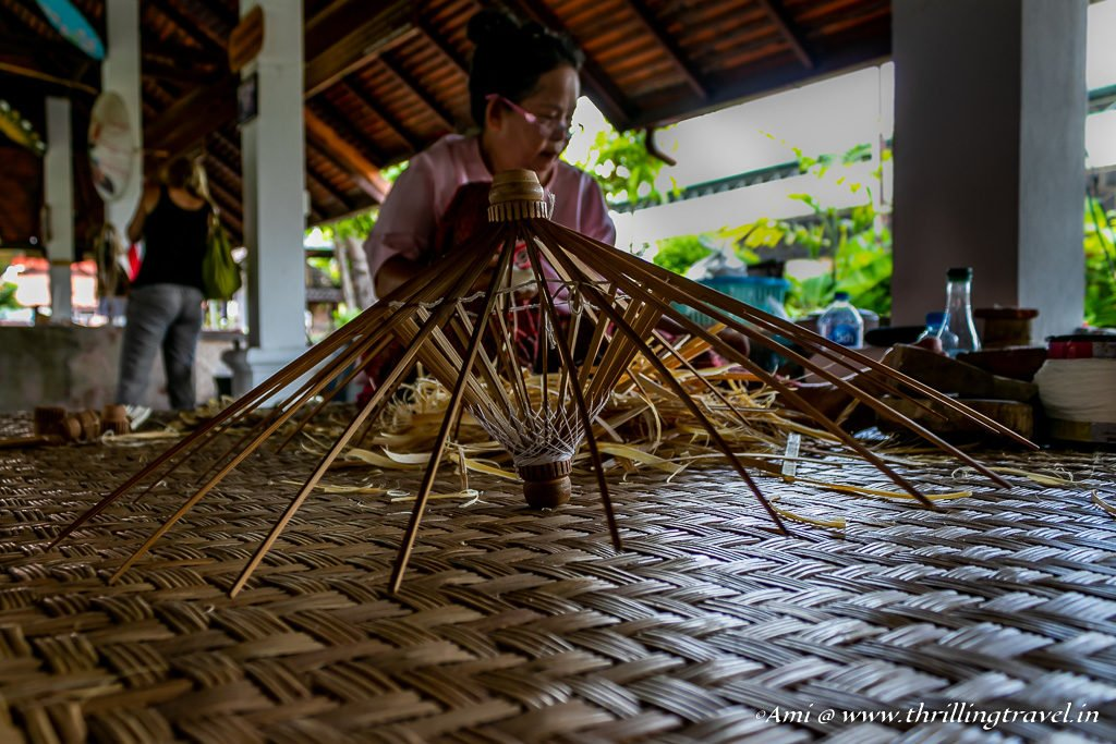 Spokes of the Bo Sang Umbrella at the Chiang Mai Handicraft Village