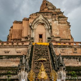 The Southern Face of the Pagoda at Wat Chedi Luang