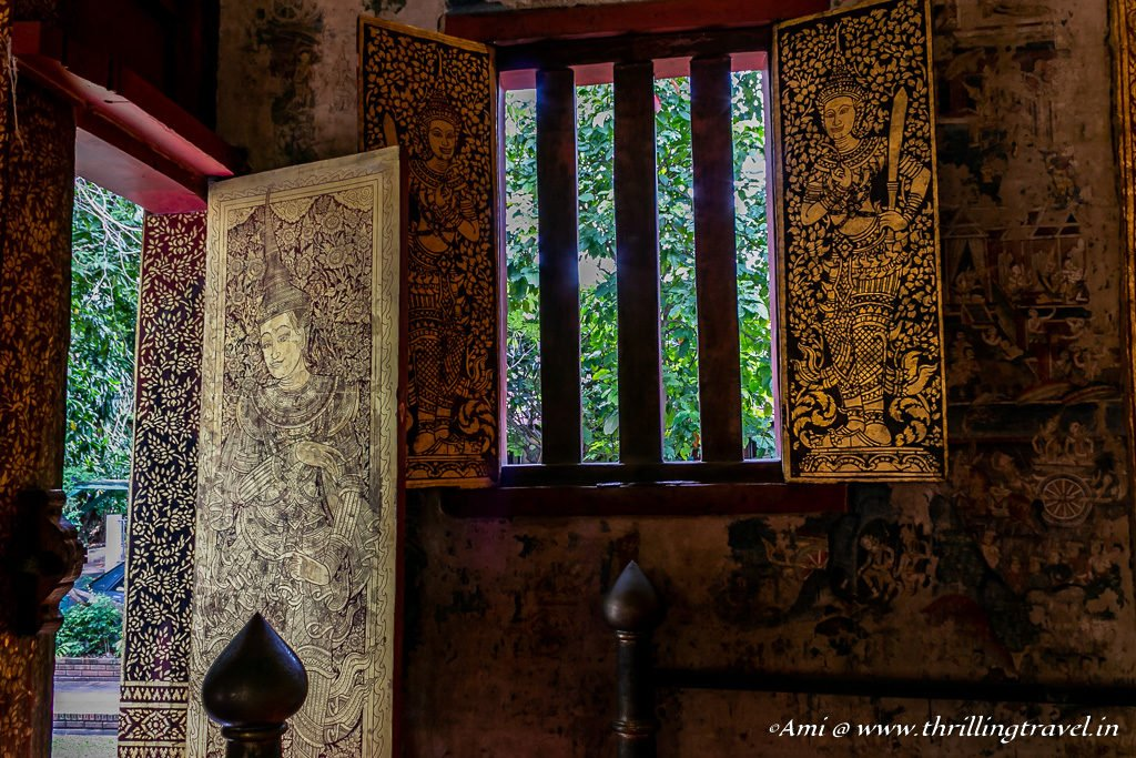 The stunning doors and windows of Wiharn Lai Kham at Wat Phra Singh