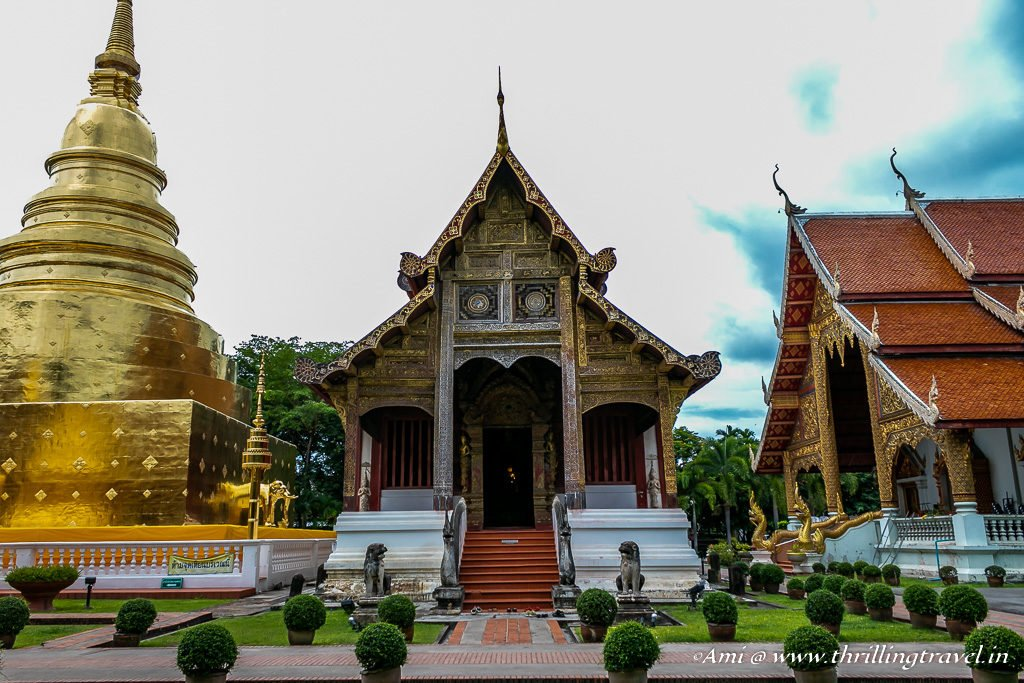 Ubosot next to the Chedi at Wat Phra Singh
