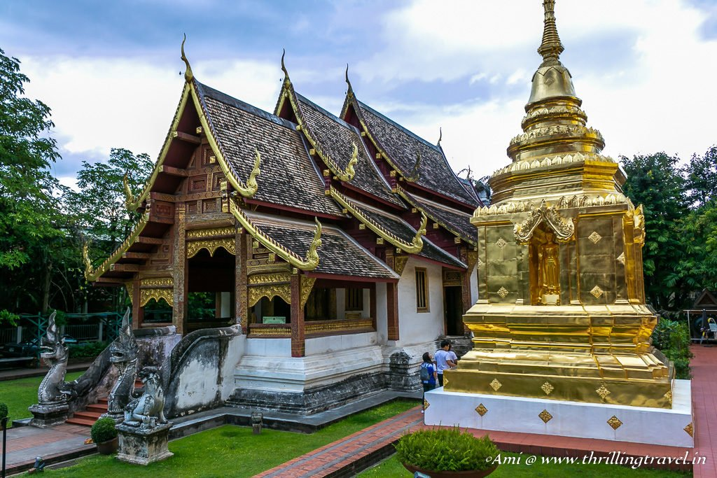 Wiharn Lai Kham with the Chedi at Wat Phra Singh, Chiang Mai, Thailand