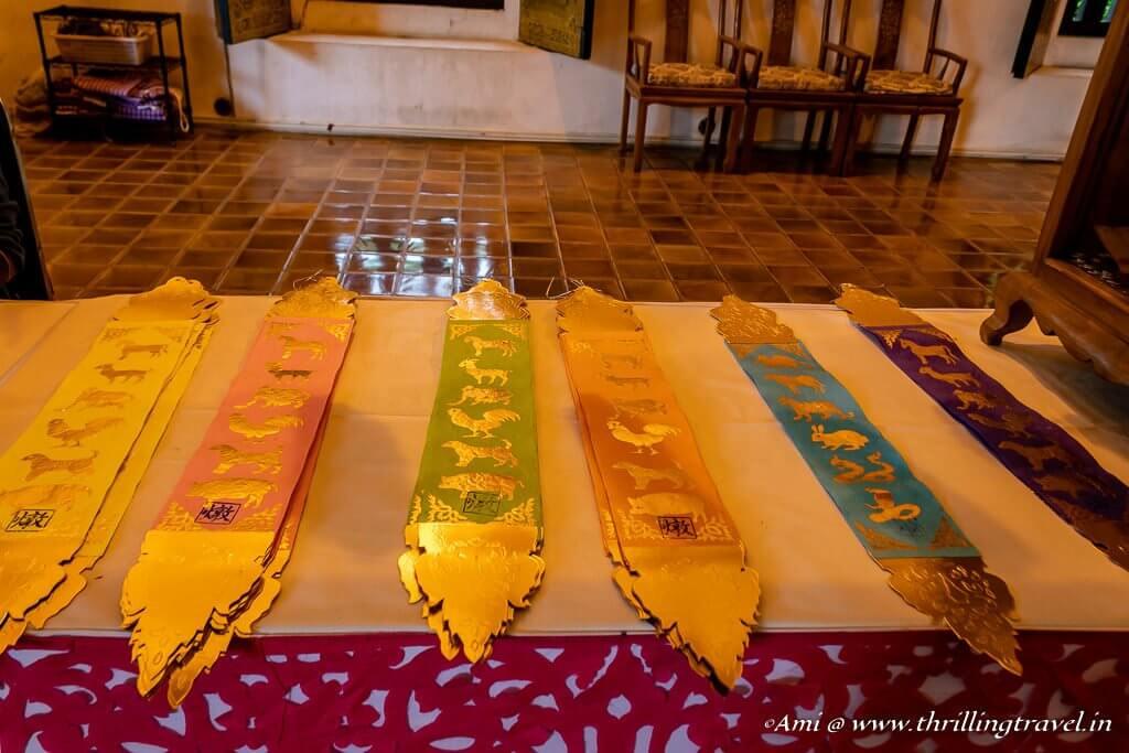 The Wishing ribbons at Wat Chedi Luang