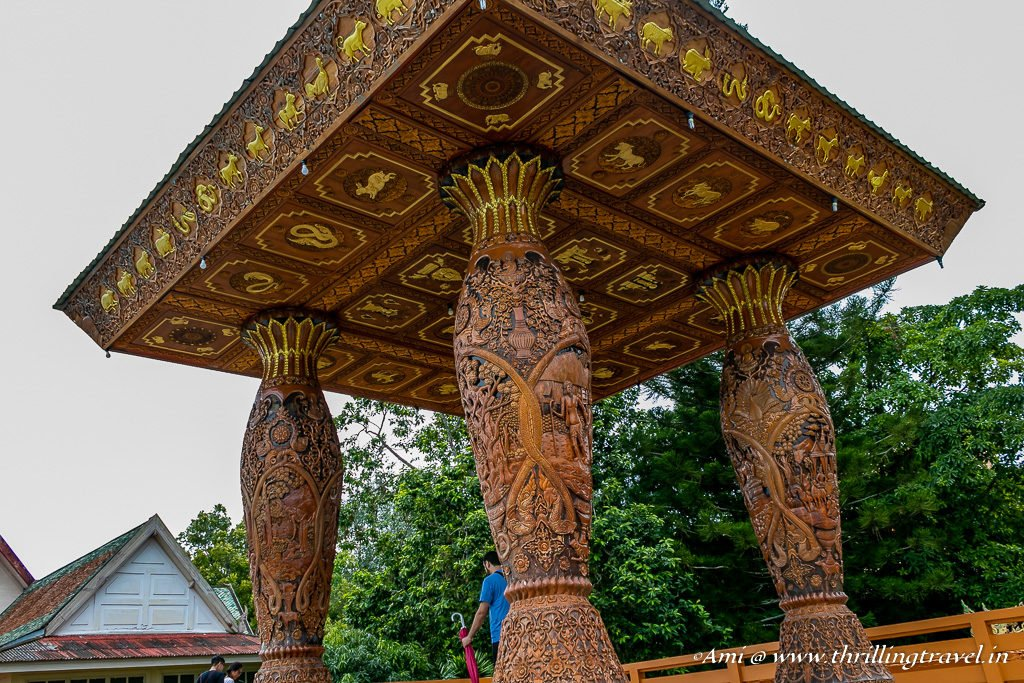 Wooden pavilion for the Chiang Mai Views at Doi Suthep Temple
