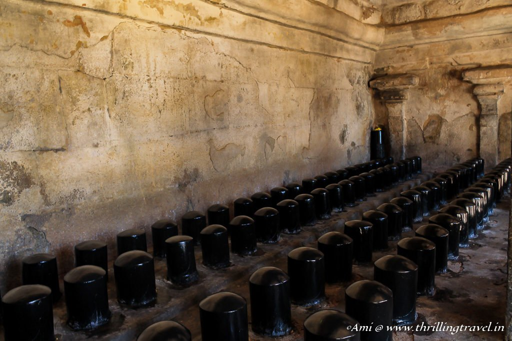 108 Lingas in Cloister Mandapa of Brihadeeswarar Temple