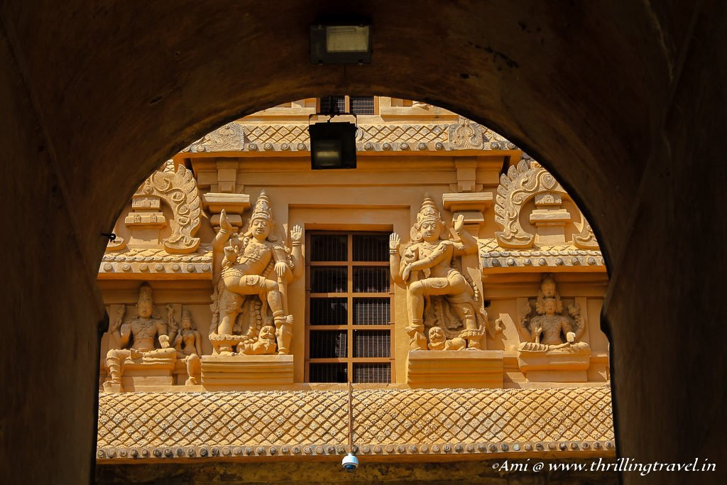 Carvings of Rajarajan Tiruvasal as seen from Keralatakan Tiruvasal