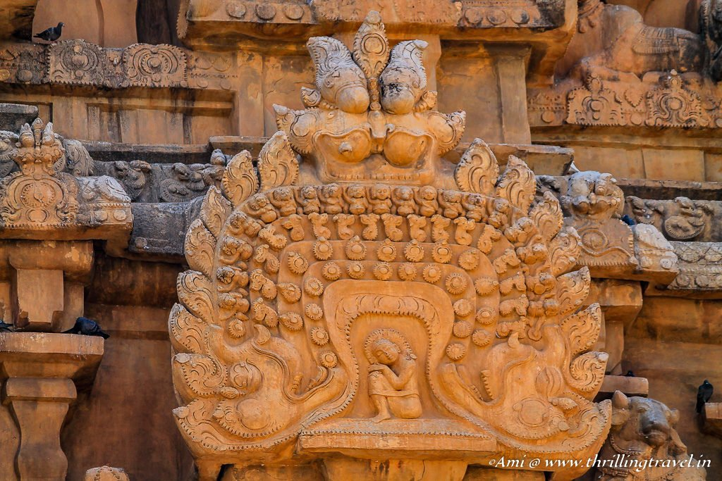 Carving on Thanjavur Temple