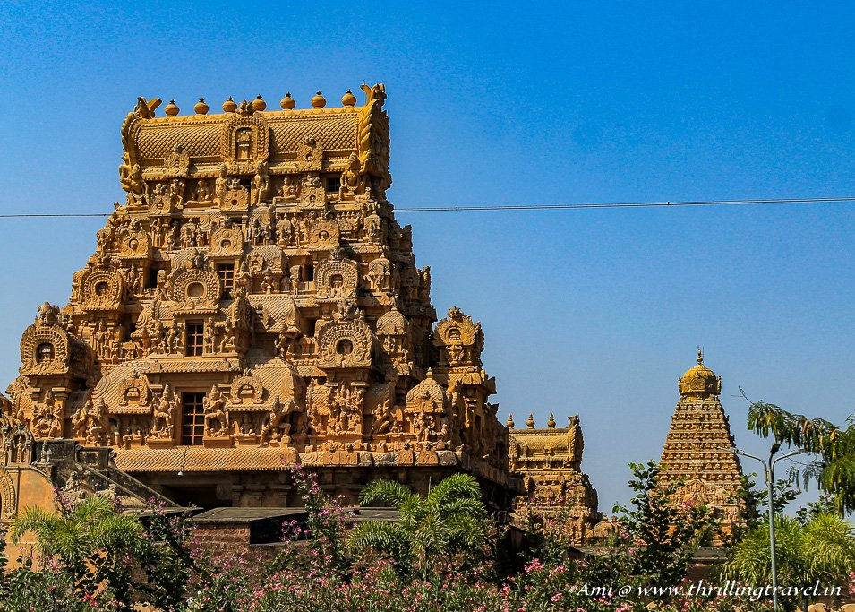 Gopurams smaller than Vimana-Brihadeeswarar Temple