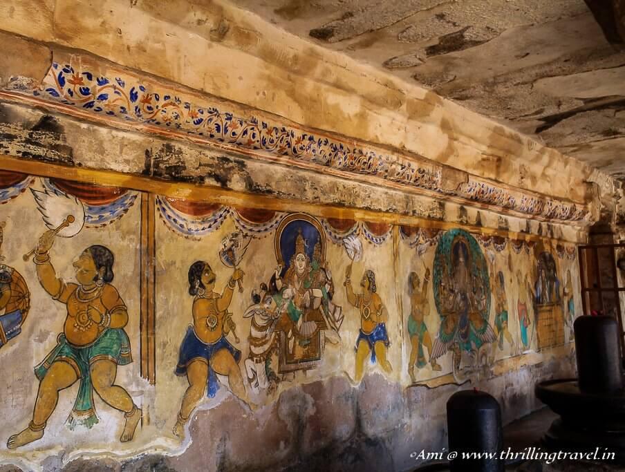 Murals in Cloister Mandapa of Brihadeeswar Temple