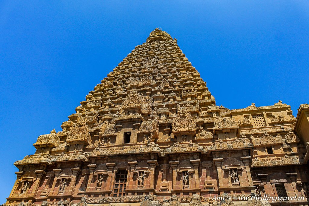 The famous Sri Vimana of Brihadeeswarar Temple, Tanjore