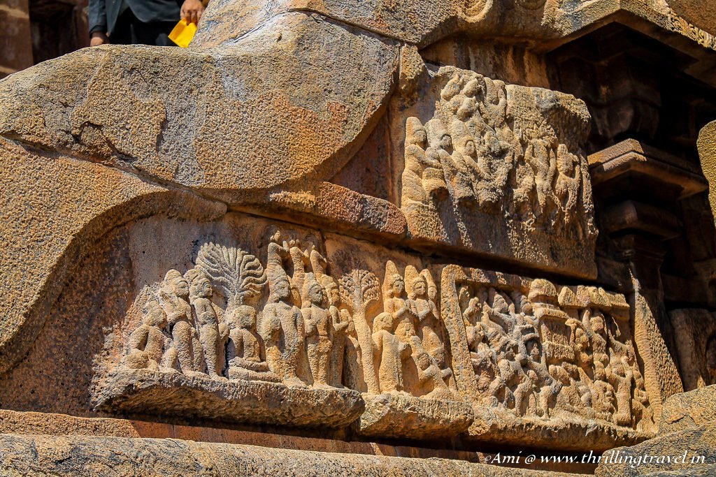 Wall carvings of Brihadeeswarar Temple